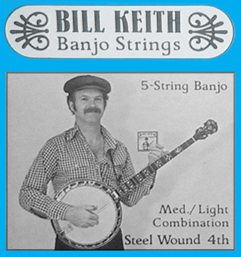 Bill Keith Banjo Strings (Steel wound fourth)